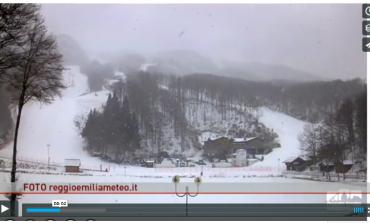 Bufera di neve e vento a Cerreto Laghi. VIDEO